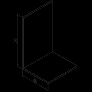 Hoeklijn 40x70x2