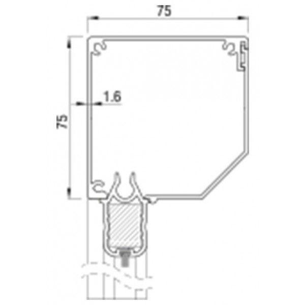 RitsScreen ZWS R75 Afgeschuind